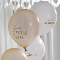 Chic Boutique Just Married Balloons - Ivory & Gold (8)